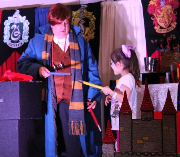A wand Ceremony.