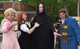 Vladimir Snape dropped in to pose with the cast of Fantastic Magic of Potter show
