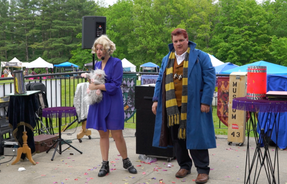 Queenie and Newt and a friend