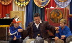 The Headmaster tells a magical story with two students